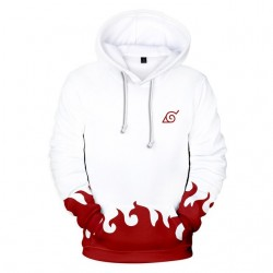 Sweat naruto blanc et rouge