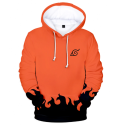 Sweat naruto orange et noir