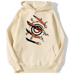 Sweat Naruto - Sceau Kurama beige