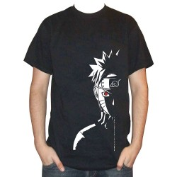 T-shirt naruto yeux rouge